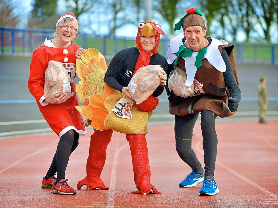 GALLERY: Off they trot for a prize turkey