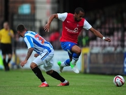 New signing Ashley Chambers is targetting goals at Kidderminster Harriers