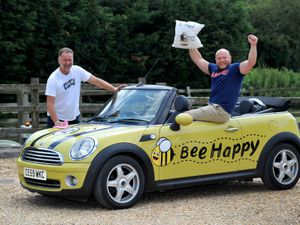 Alan Pittaway and Matt Rhodes(right) who will be taking part in the Gumball Rally, to raise money for Mary Stevens Hospice