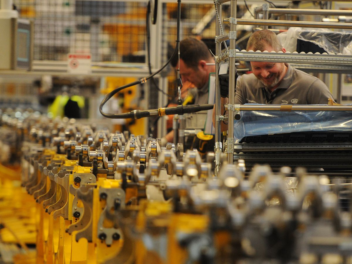 Inside the Jaguar Land Rover factory at the i54 in Wolverhampton