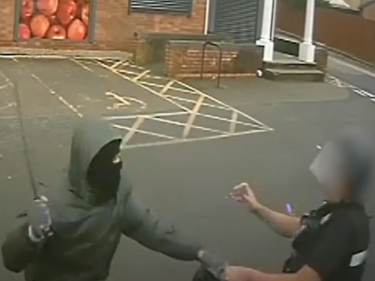 A still from the video released by West Midlands Police
