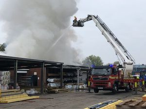 The fire in Leys Road. Picture by West Midlands Fire Service