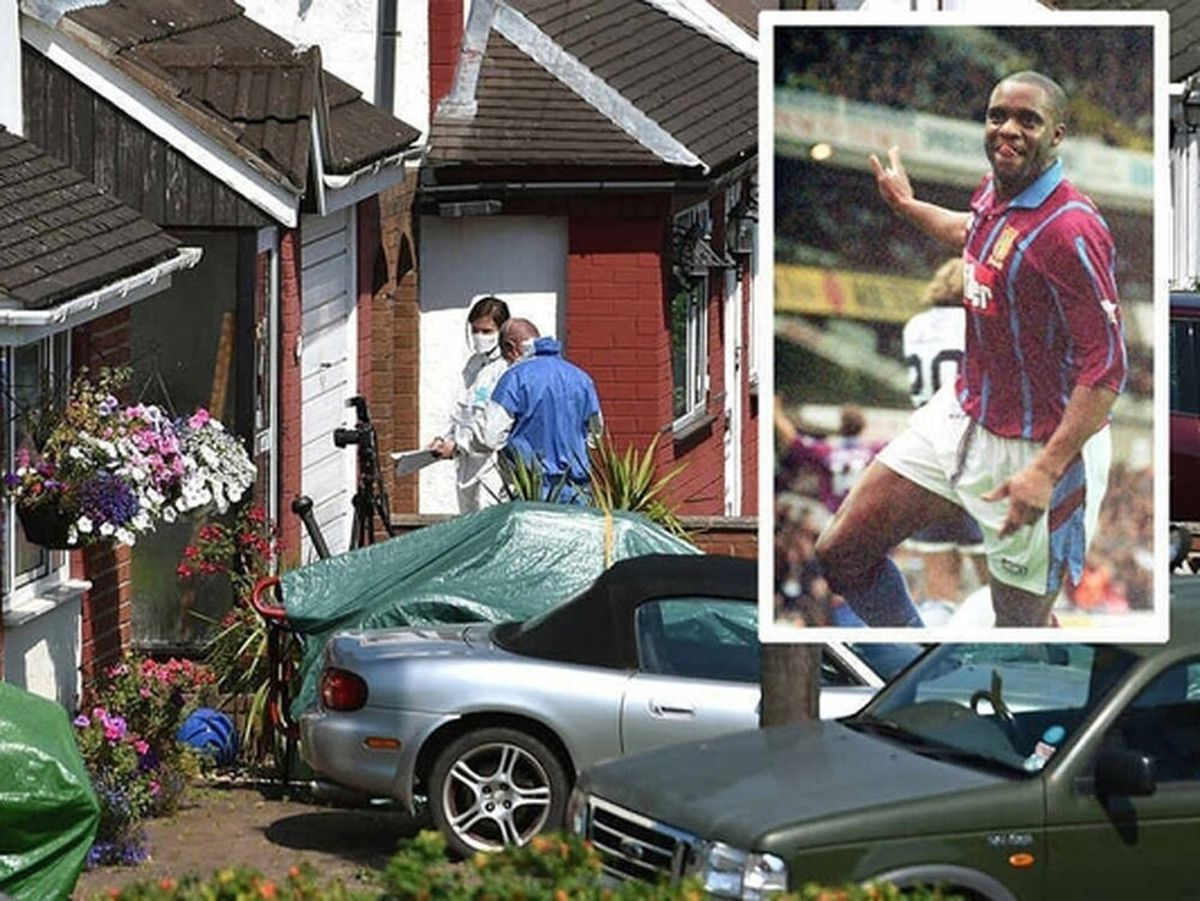The scene in Trench, Telford, where Dalian Atkinson died