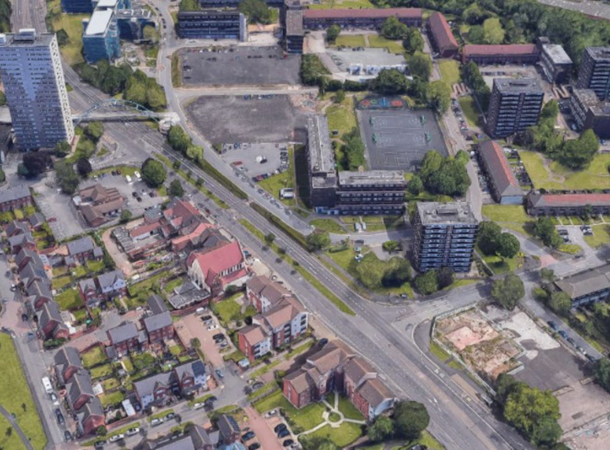 An aerial view of Wednesfield Road in Wolverhampton, where the attack happened. Photo: Google
