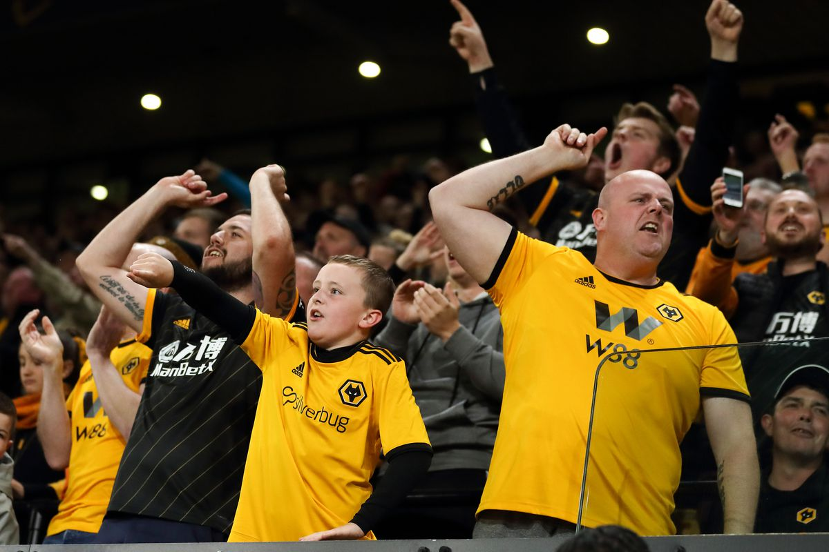 Wolves fans at Molineux