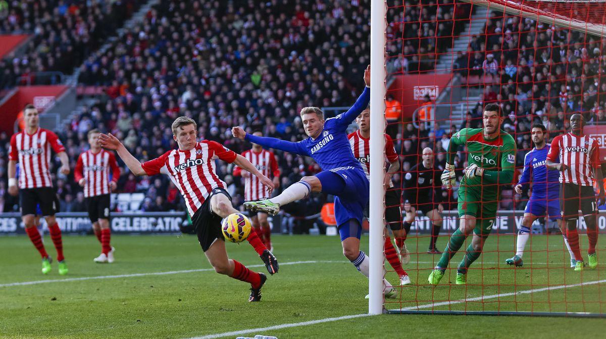 Matt Targett in action for Southampton.
