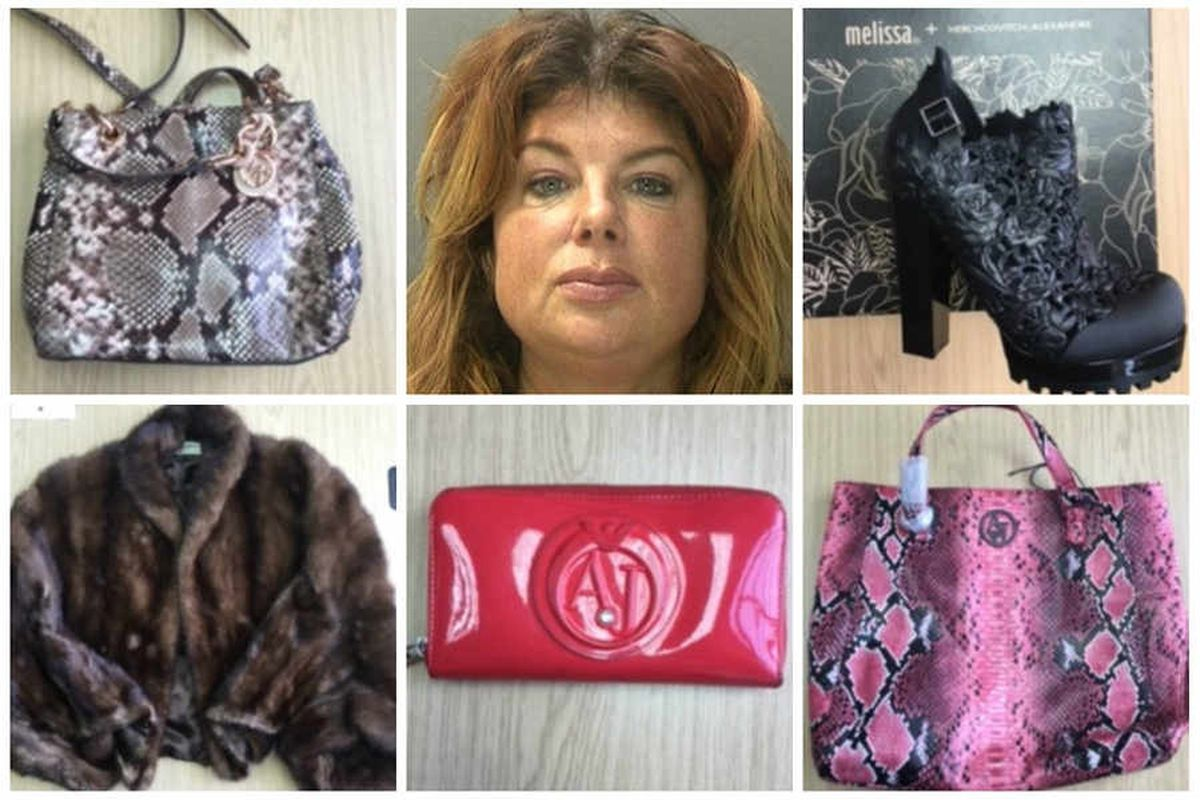Julie Sexton-Blythe and some of her luxury goods