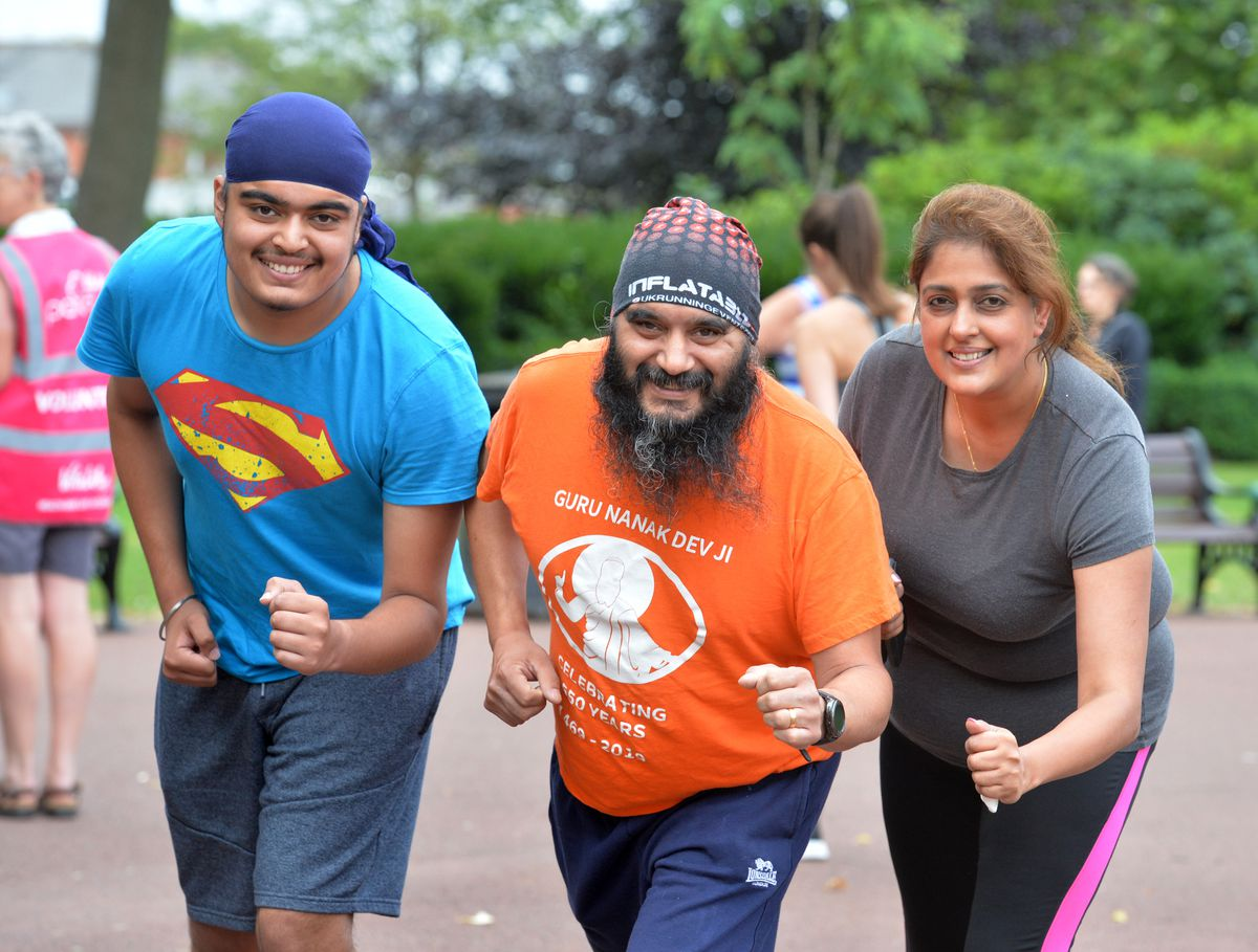 Jai-Anand, Jaz and Kiran Bhogal were ready to get going at West Park