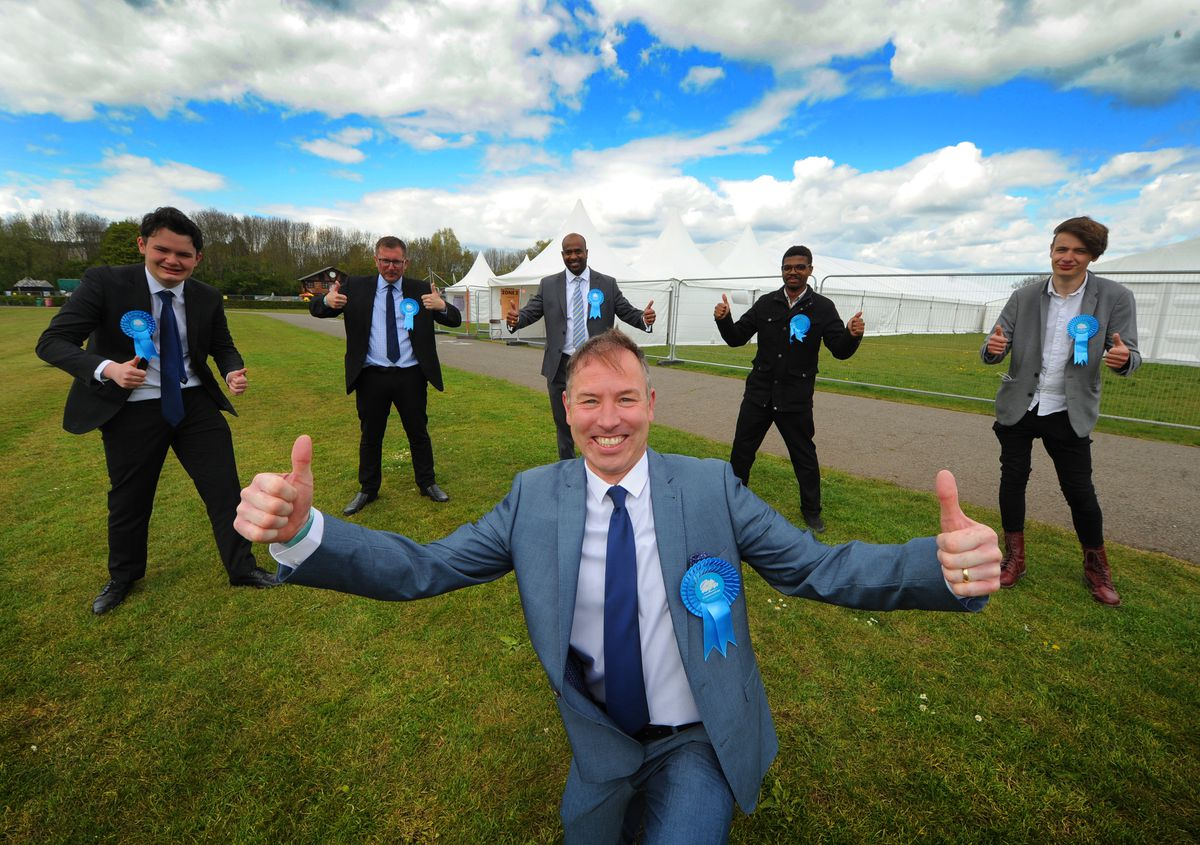 What's the collective noun for a smiling Conservative? It's normally a rare sight in Sandwell