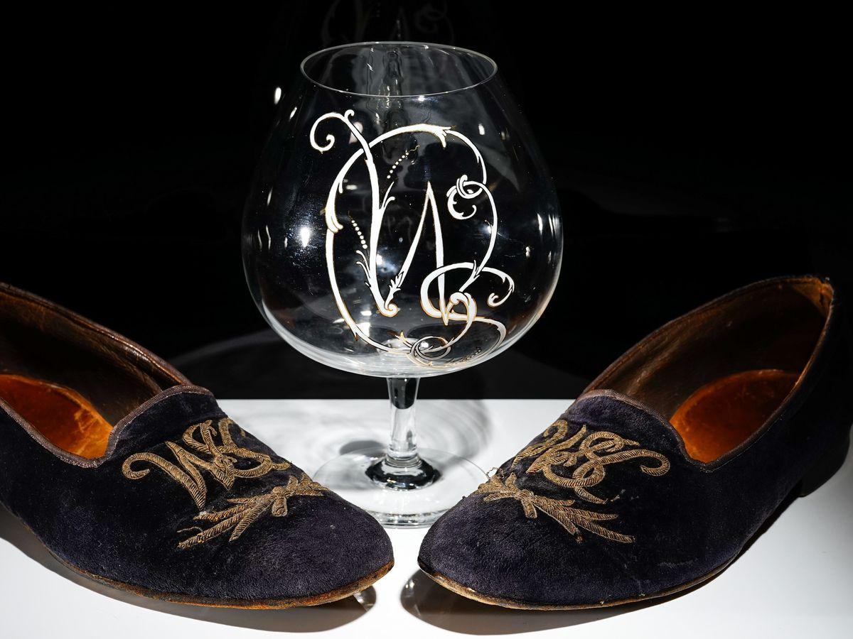 A pair of Winston Churchill's velvet slippers