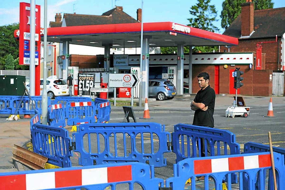 Sales 'cut by half' during Wolverhampton roadworks