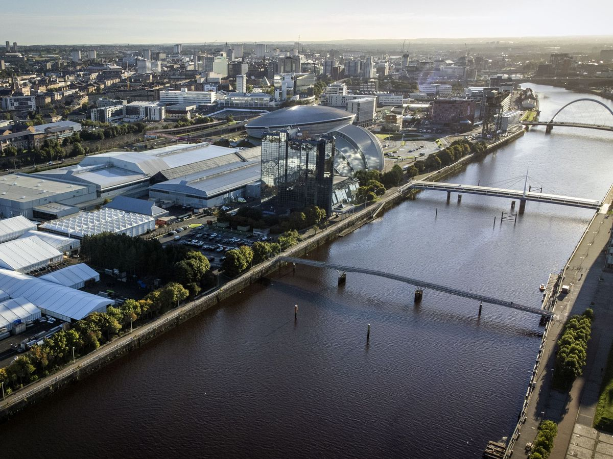 An aerial view of Glasgow