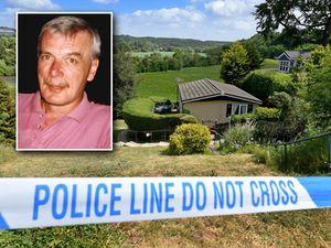 Kevin Davis, inset, died after being stabbed at Knowle Sands Caravan Park, in Bridgnorth