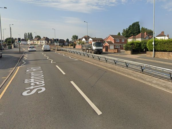 The repairs will be taking place on the A449 Stafford Road. Photo: Google