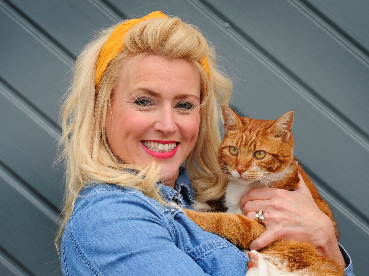 A relieved Kate Turnerr has been reunited with Bob
