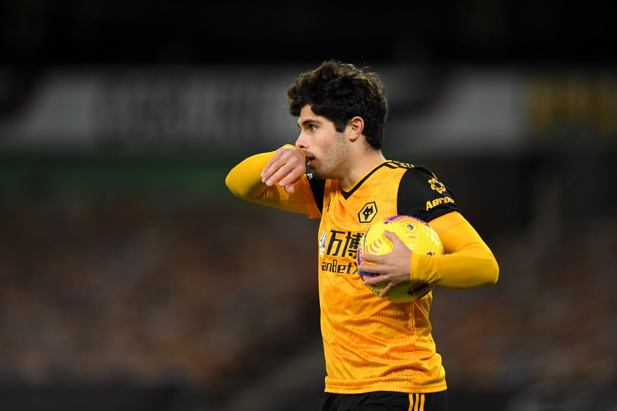 Pedro Neto of Wolverhampton Wanderers celebrates after scoring a goal to make it 1-1 (AMA)