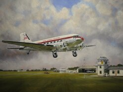 Painting of airfield brings old site to life