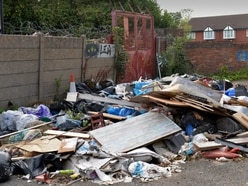 Confusion over land ownership as fly-tipping blights former Dudley TV store