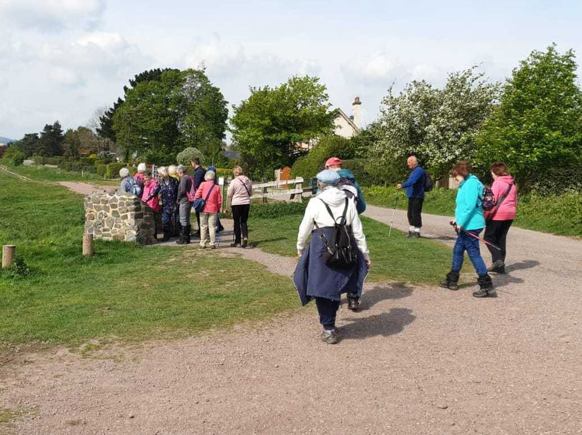 A ramblers group that meets weekly at Aldridge Airport Outdoor Centre