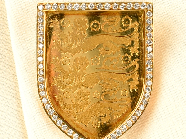 England brooch owned by Baggies and FA chairman Bert Millichip up for sale