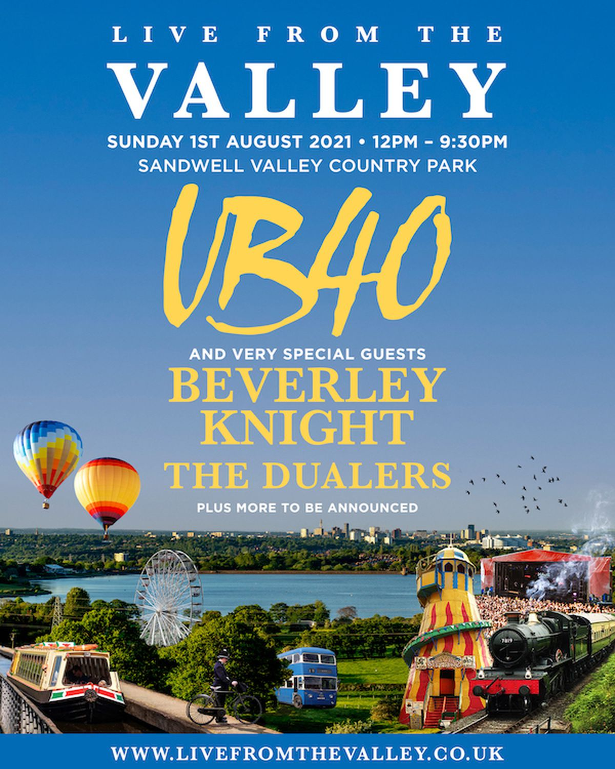 UB40: Live from the Valley will help open a summer of activities at Sandwell Valley Country Park