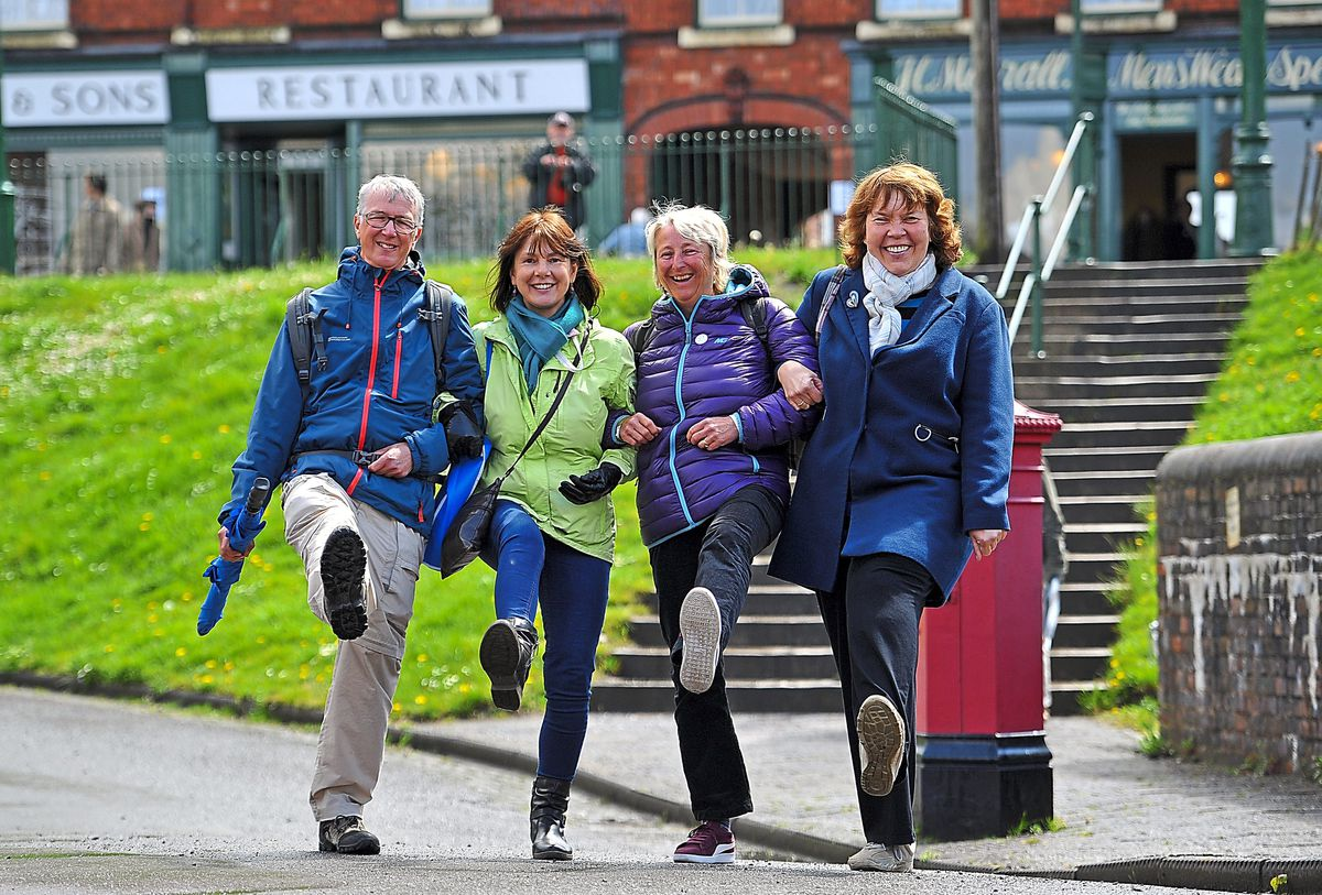 Andy Holmes, Amanda Worley, Liz Holmes and Tracey Cameron visited the Black Country Living Museum