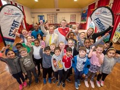 Kristian Thomas vaults in to inspire Wolverhampton pupils