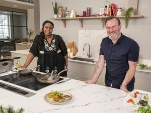 The Big Birmingham Cook-a-long - Councillor Sharon Thompson with Glynn Purnell