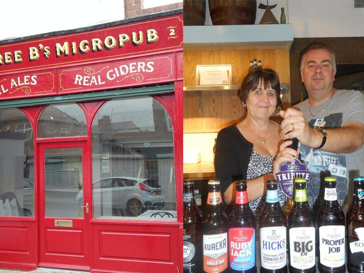 Cheryl and Mark Bates, and the Three B's micropub