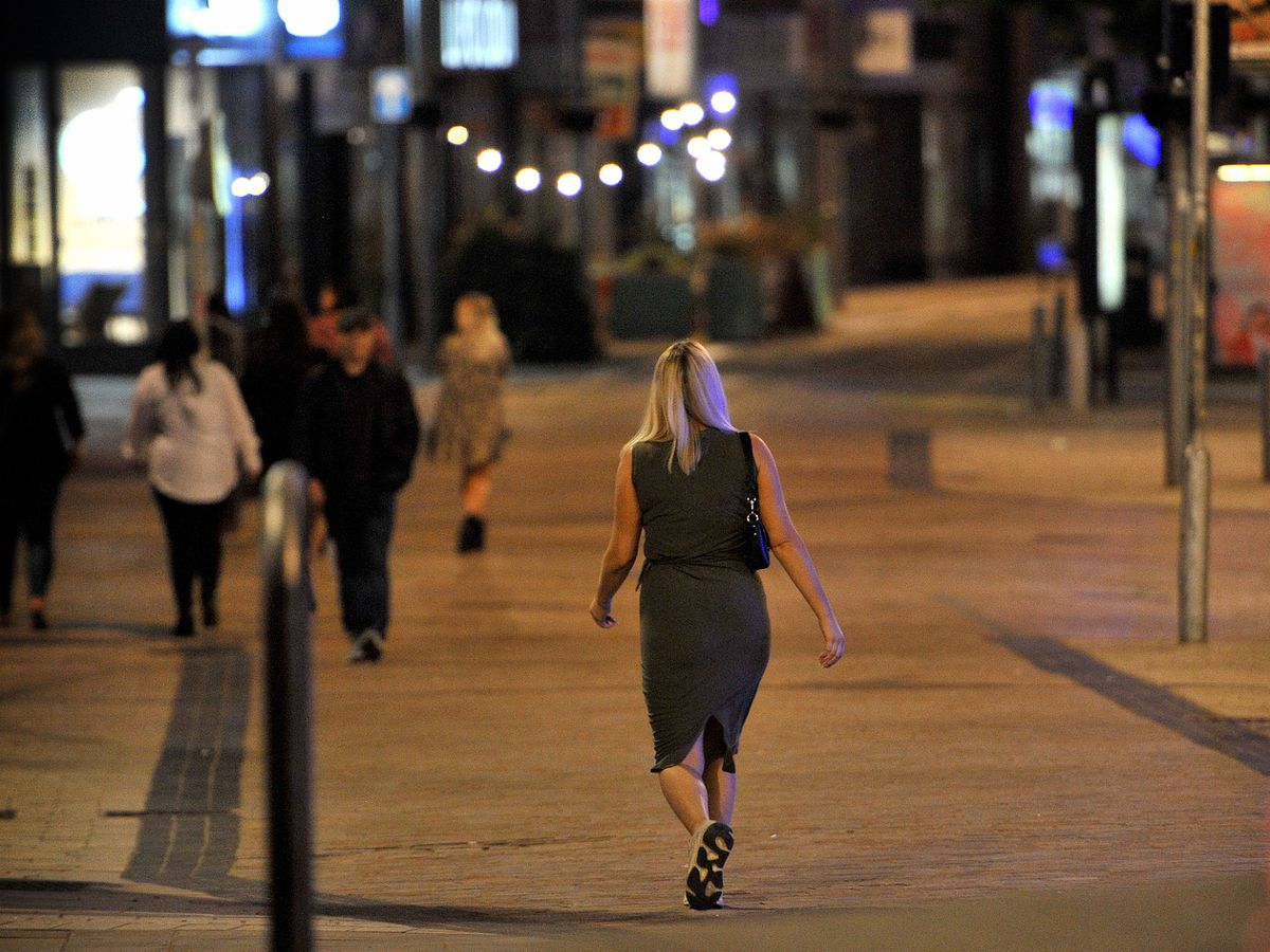 Women have said they feel vulnerable out in Wolverhampton at night