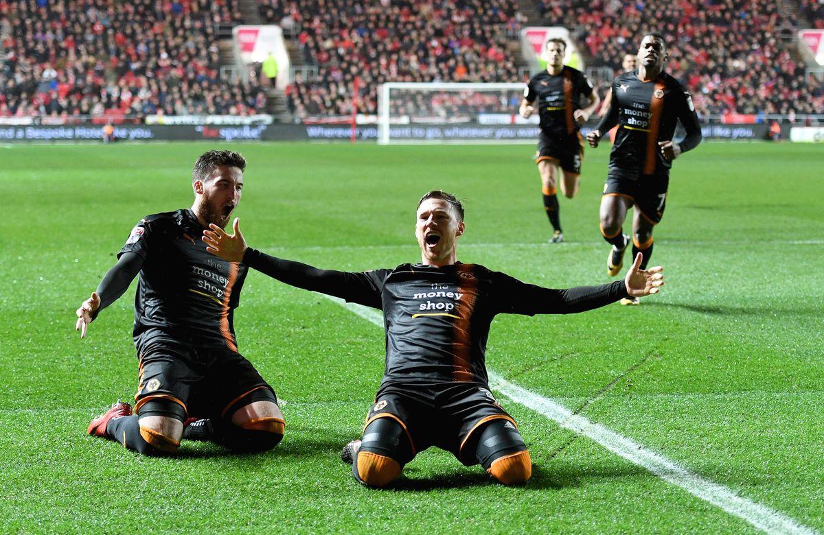 Douglas scored a free kick in a dramatic win at Bristol City (© AMA / Sam Bagnall)