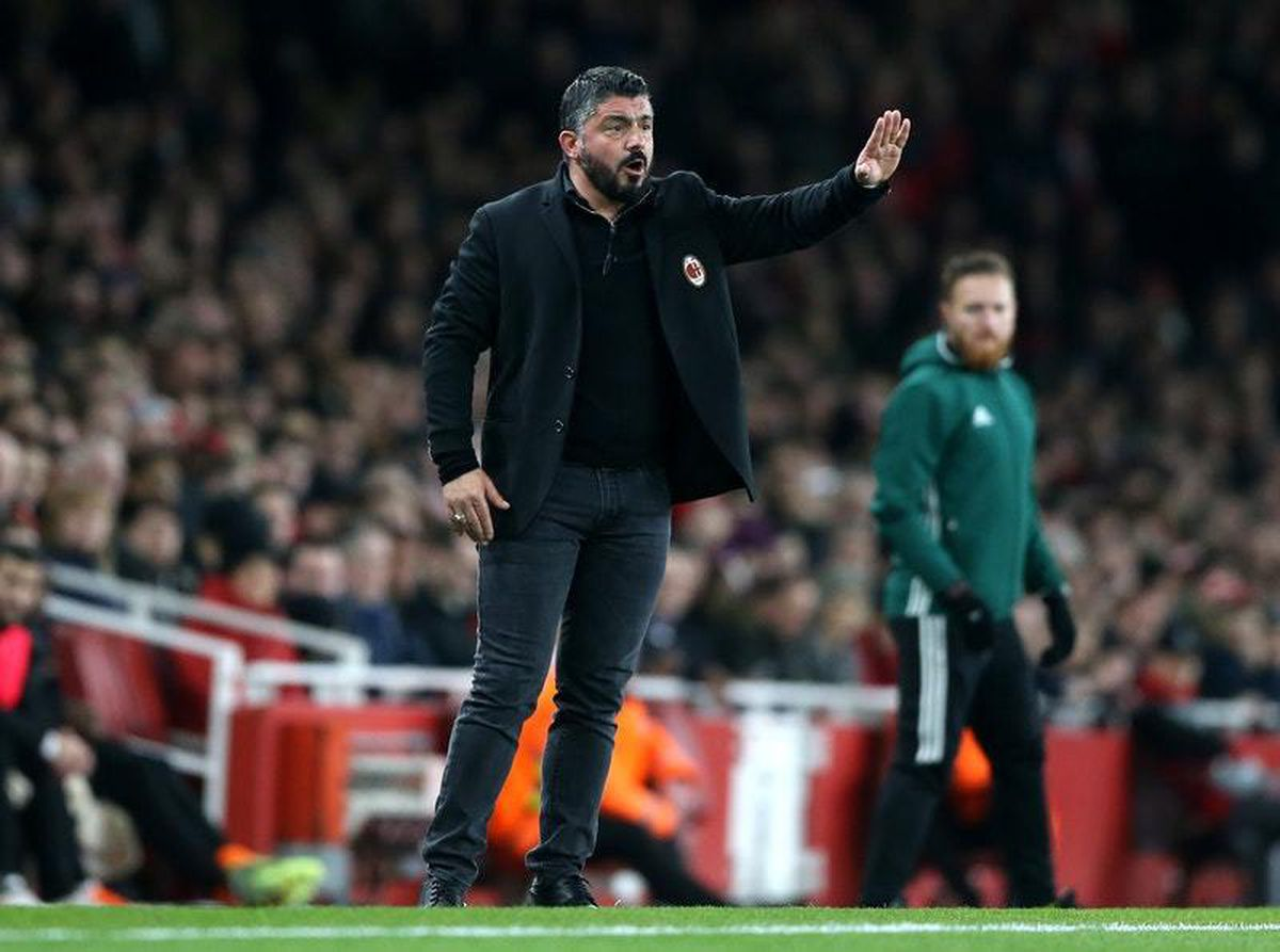 Gennaro Gattuso has his sights set on securing a Champions League spot