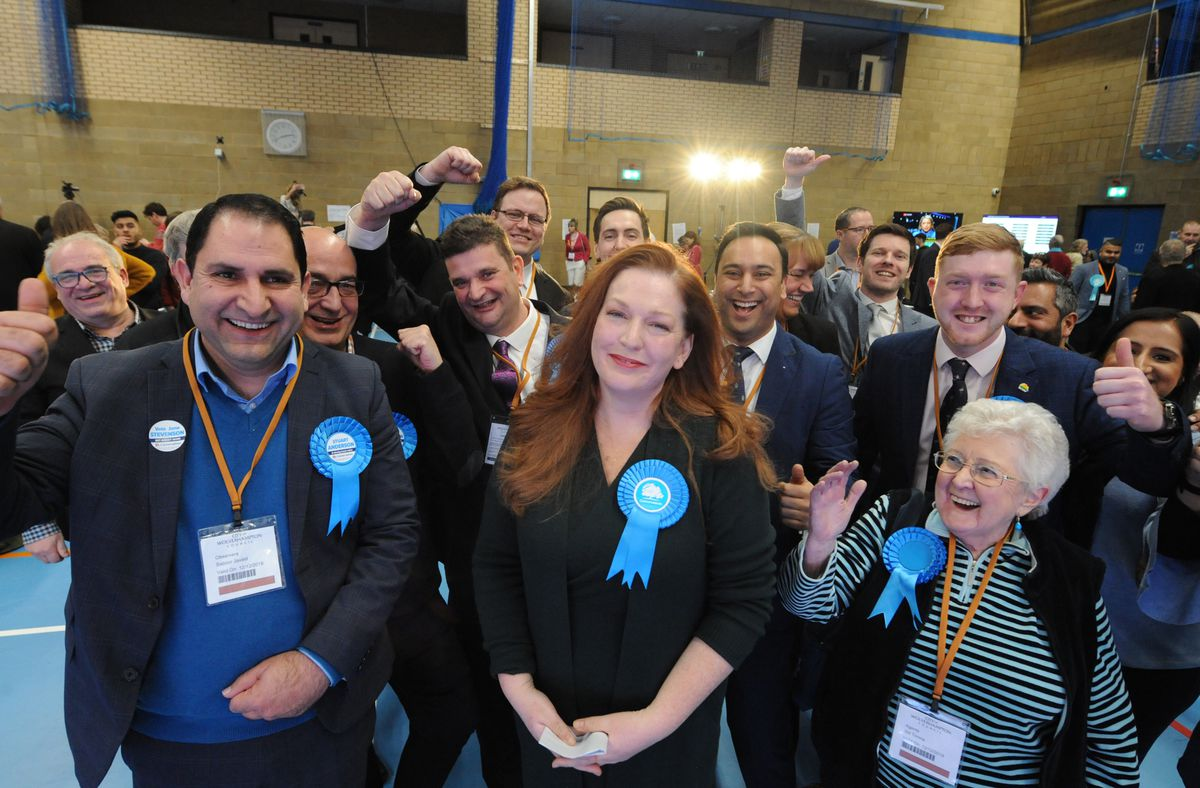 Celebrations for Jane Stevenson who won Conservative North East for the Conservatives