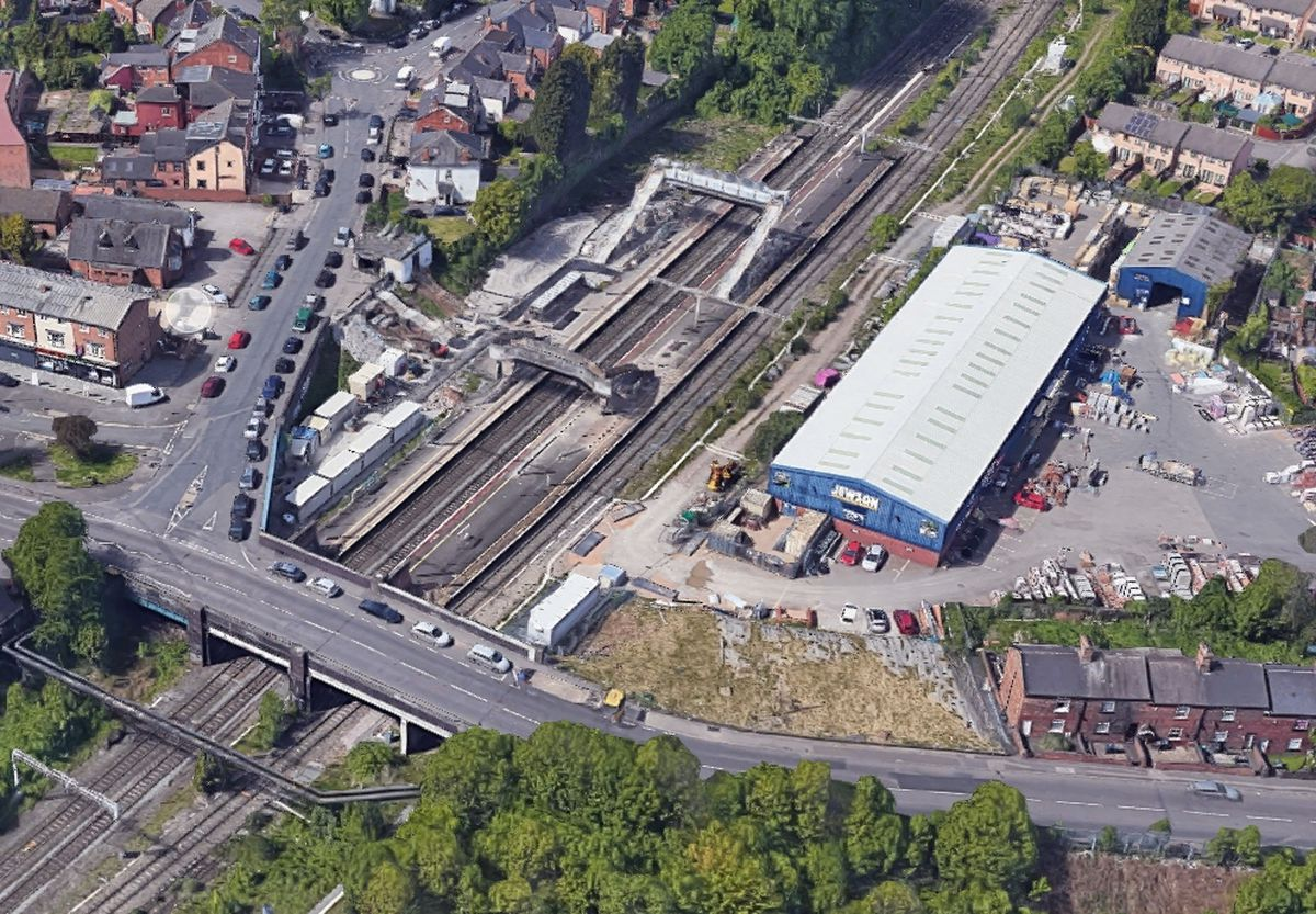 An aerial view showing Stechford station. Photo: Google