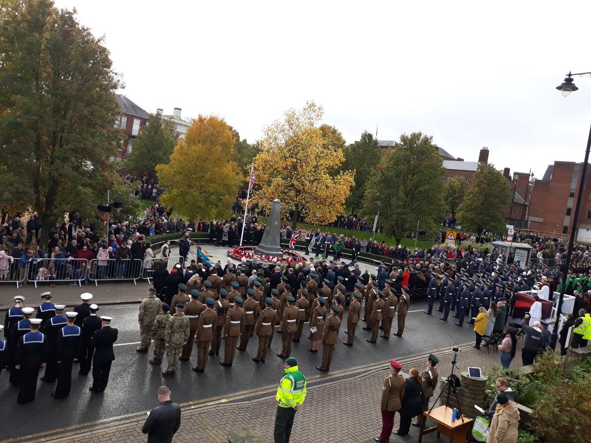 Remembrance Day parade at Dudley