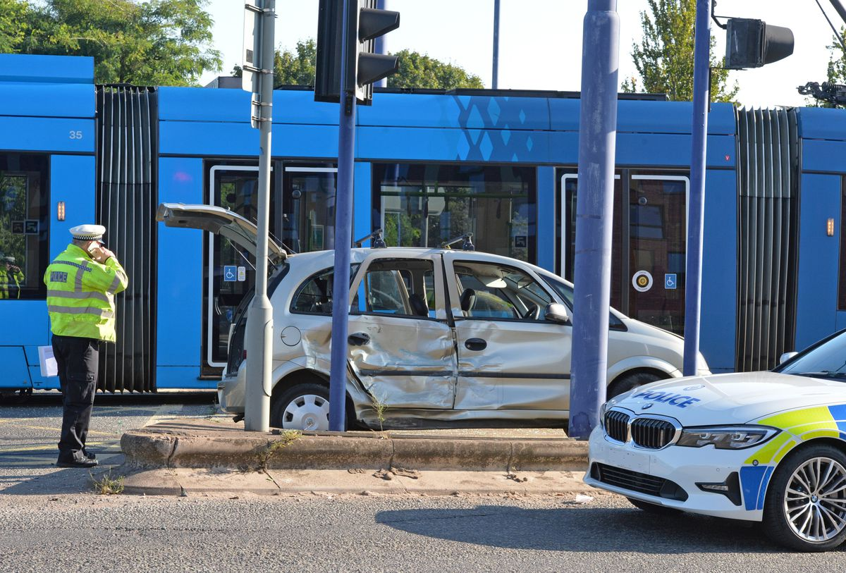 The Vauxhall car was badly damaged in the crash