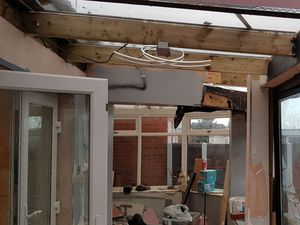 A  view of the unfinished and dangerous extension. Photo: Wolverhampton Council