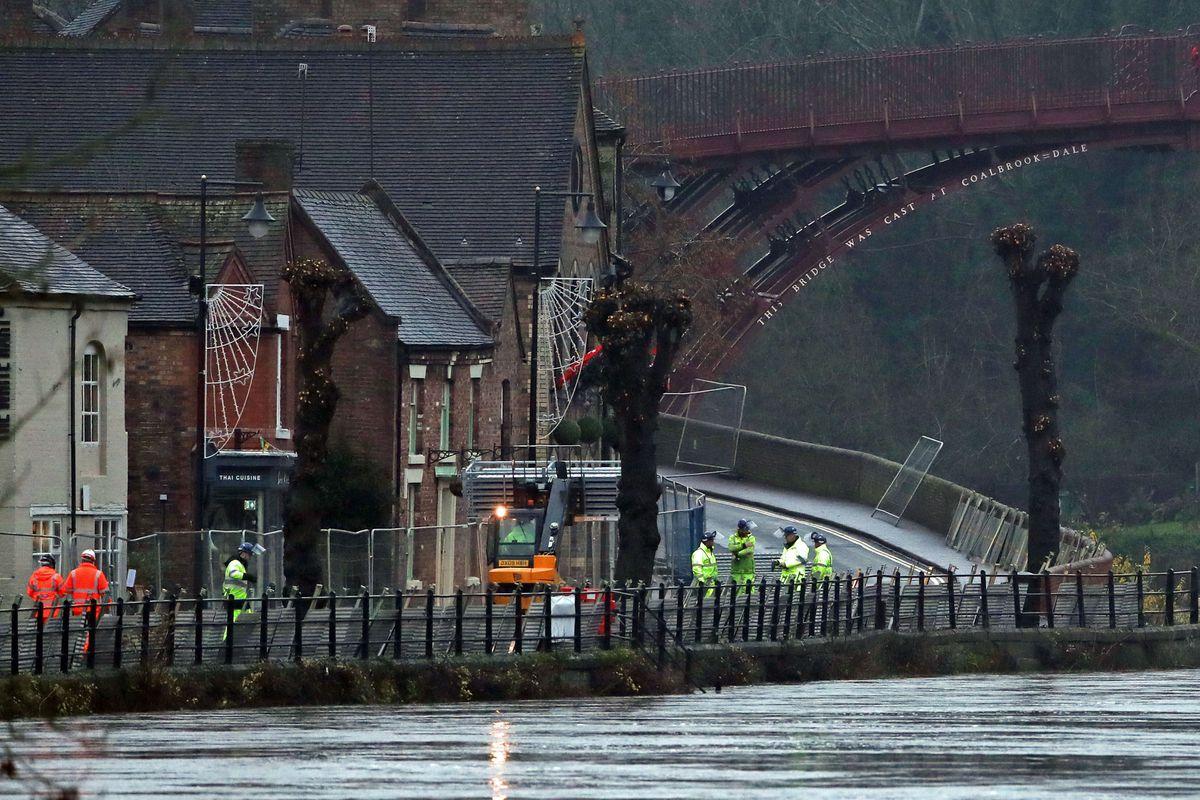 Rising water levels at Ironbridge