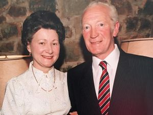 Mr George Jones, with his wife of 73 years, Bessie