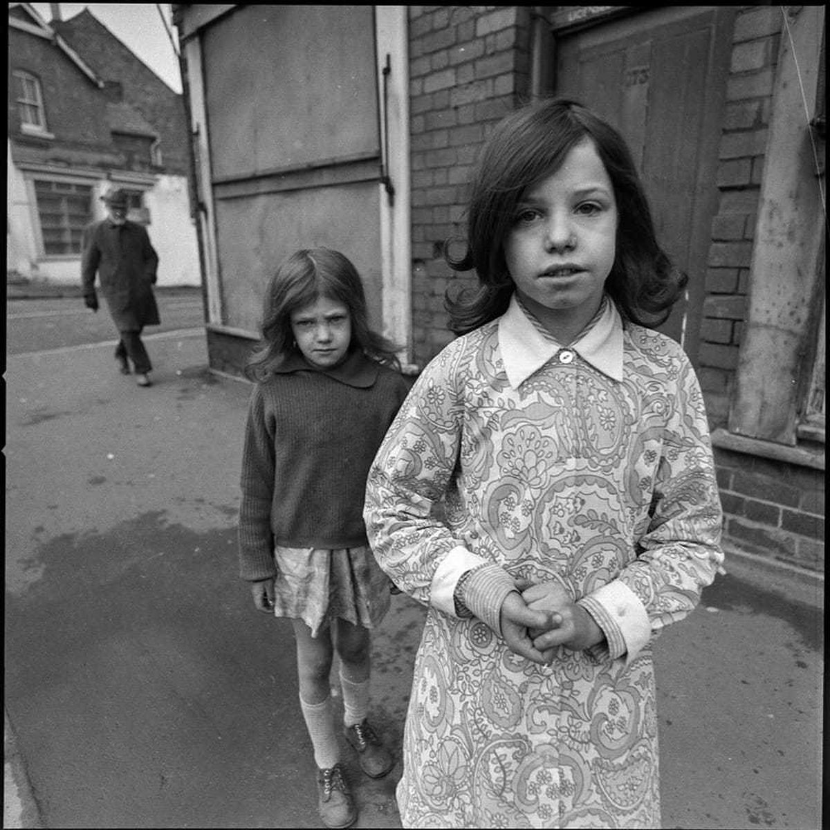 A couple of children in the North Street area of Wolverhampton