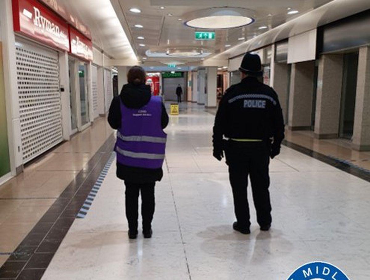 Police in Wolverhampton's Mander Centre