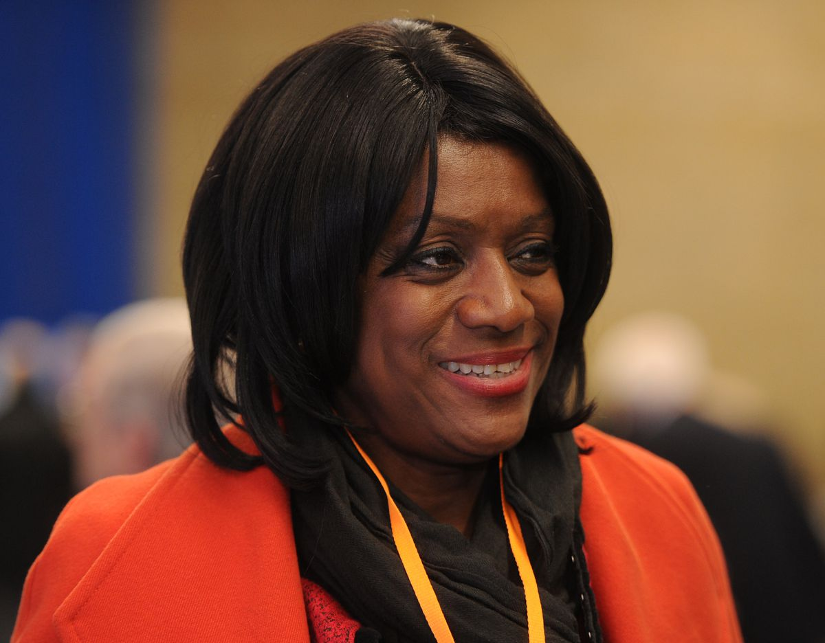 Labour Eleanor Smith was at the count at Aldersley Leisure Village