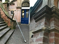 Dismay as vandals hit steps near Bridgnorth Cliff Railway