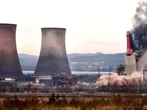 CANNOCK COPYRIGHT EXPRESS AND STAR STEVE LEATH 24/01/2021..Rugeley Power Station demolition. CROP AS NEEDED..