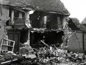 The aftermath of the Fauld munitions incident in Staffordshire