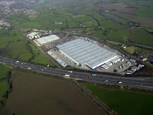 The giant Argos centre next to the M6 motorway