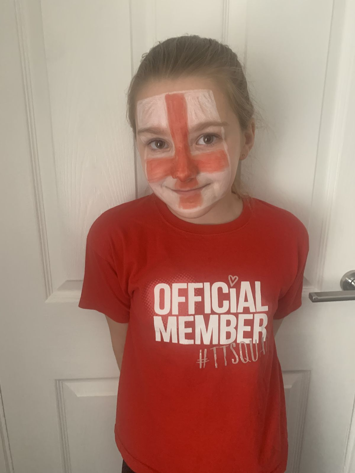 Watching at home is Maisie, aged 9, in Wolverhampton