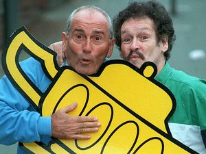 Tommy Cannon (left) and Bobby Ball launching the Grand's panto season in 1997