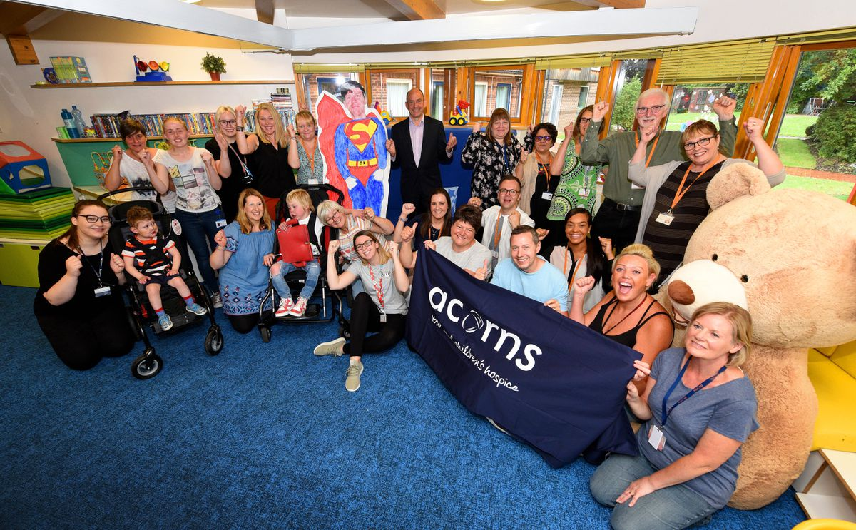 Staff and families are celebrating after hearing the news that Acorns Hospice has the chance to stay open