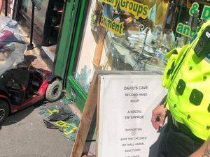 Wolverhampton Street, Dudley crash scene